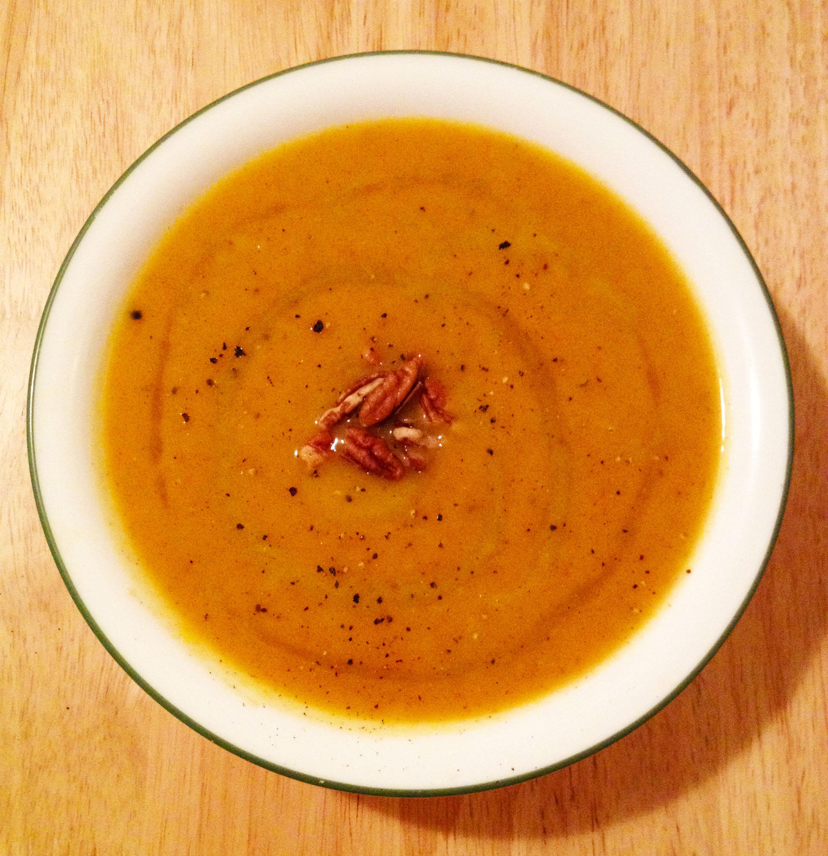 maple ginger acorn squash soup 2