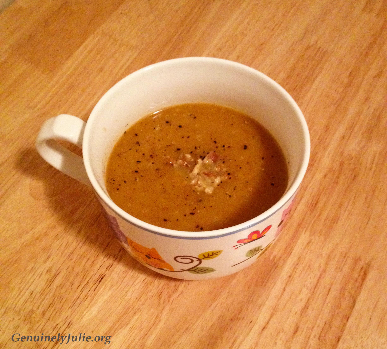 Rutabega pear soup 3