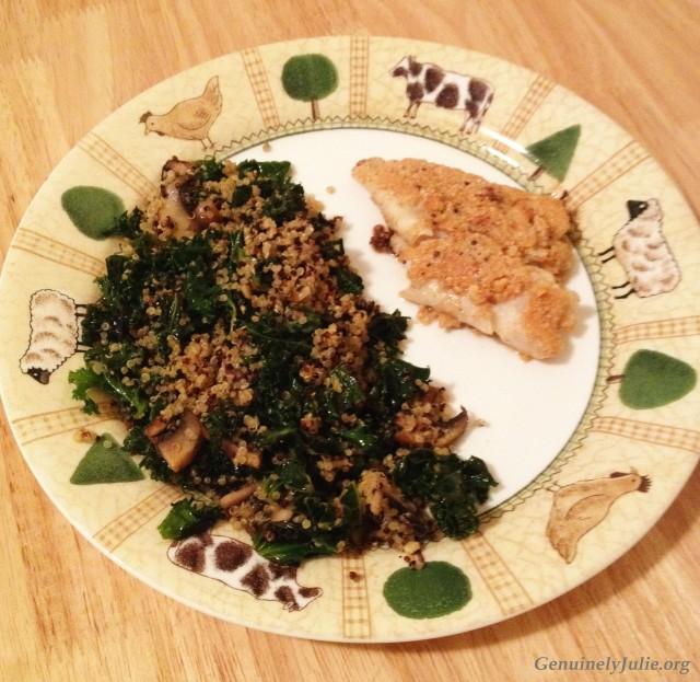 Cashew cod + quinoa
