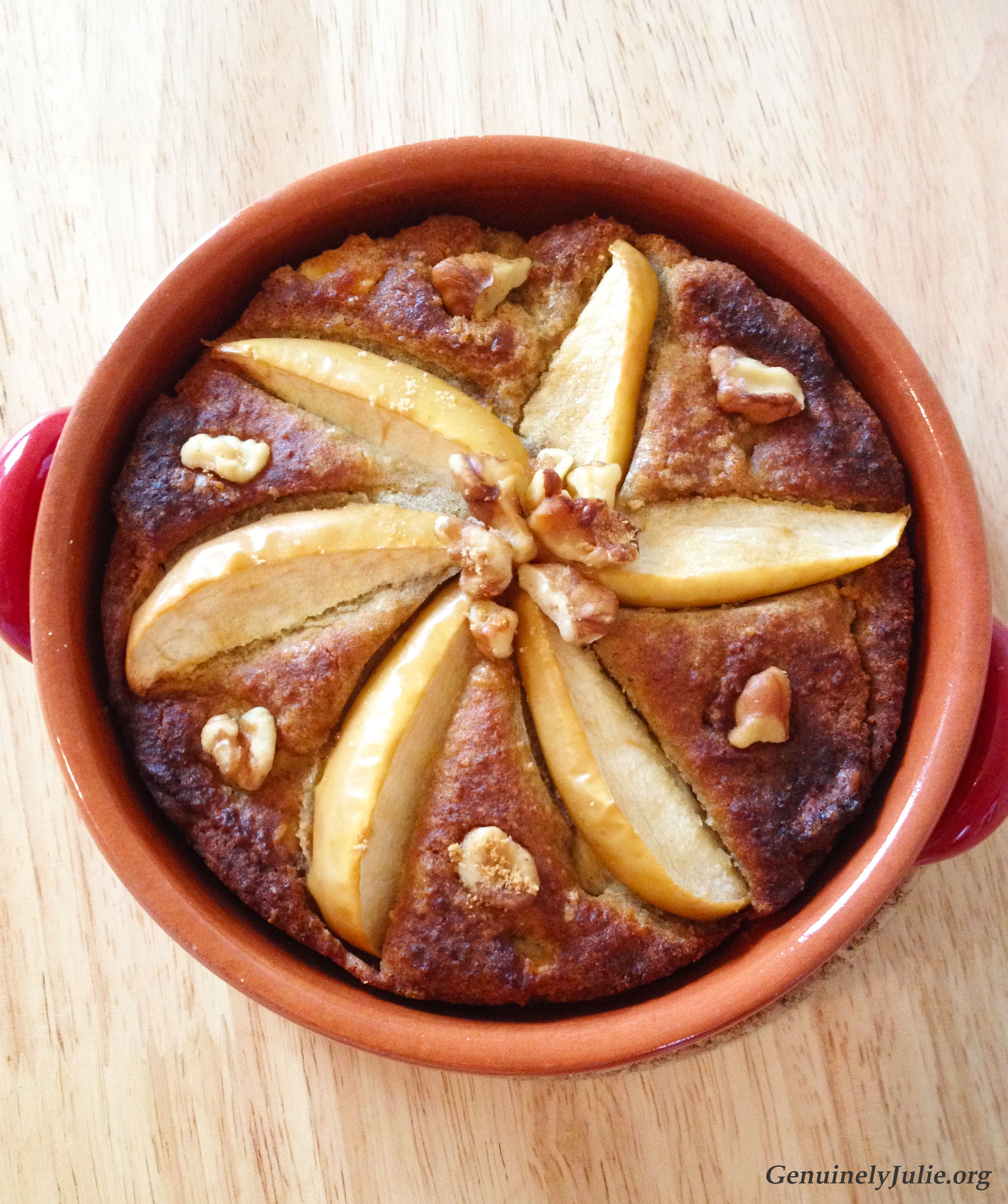 Apple Walnut EVOO cake 2