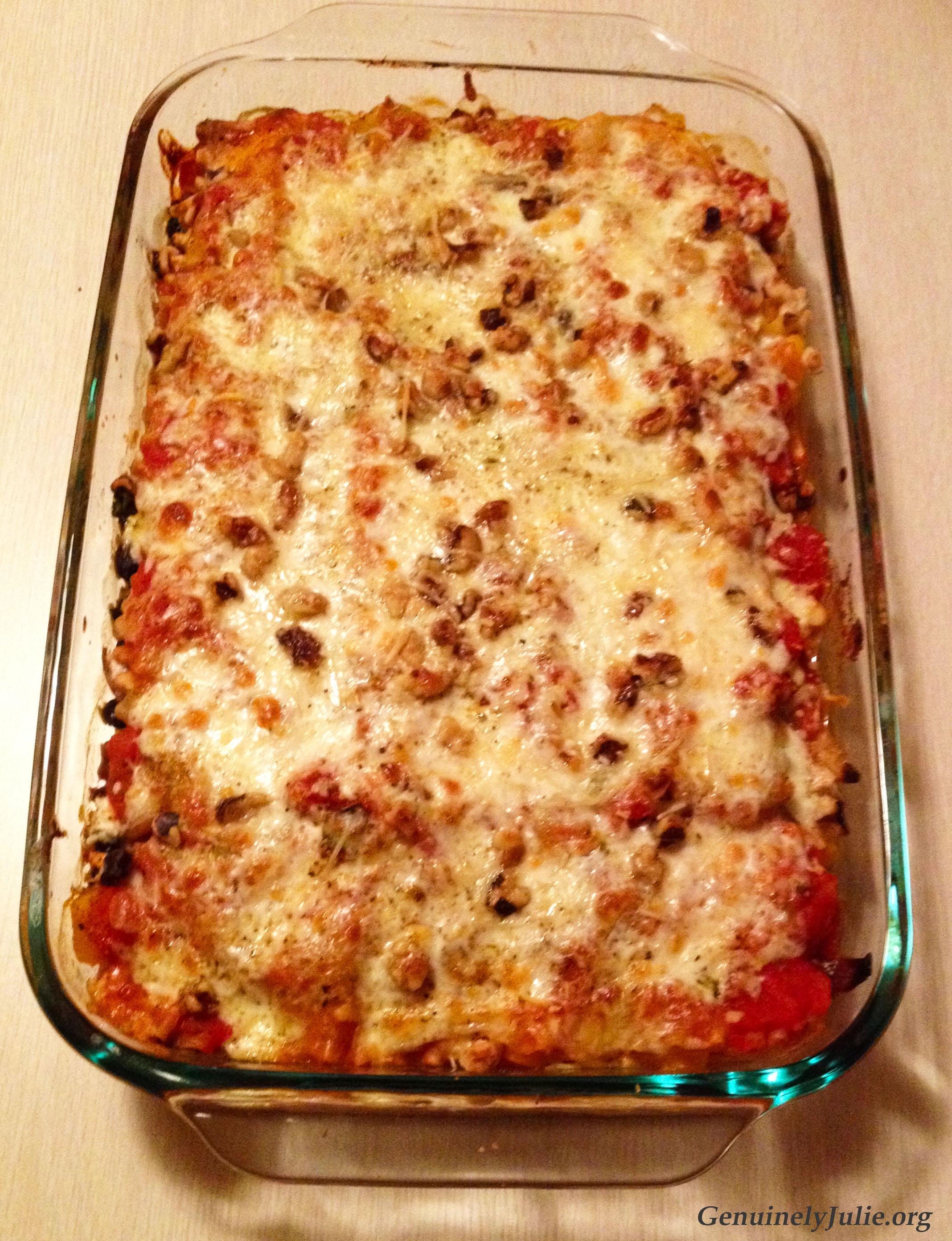 BN squash kale onion veg lasagna 1