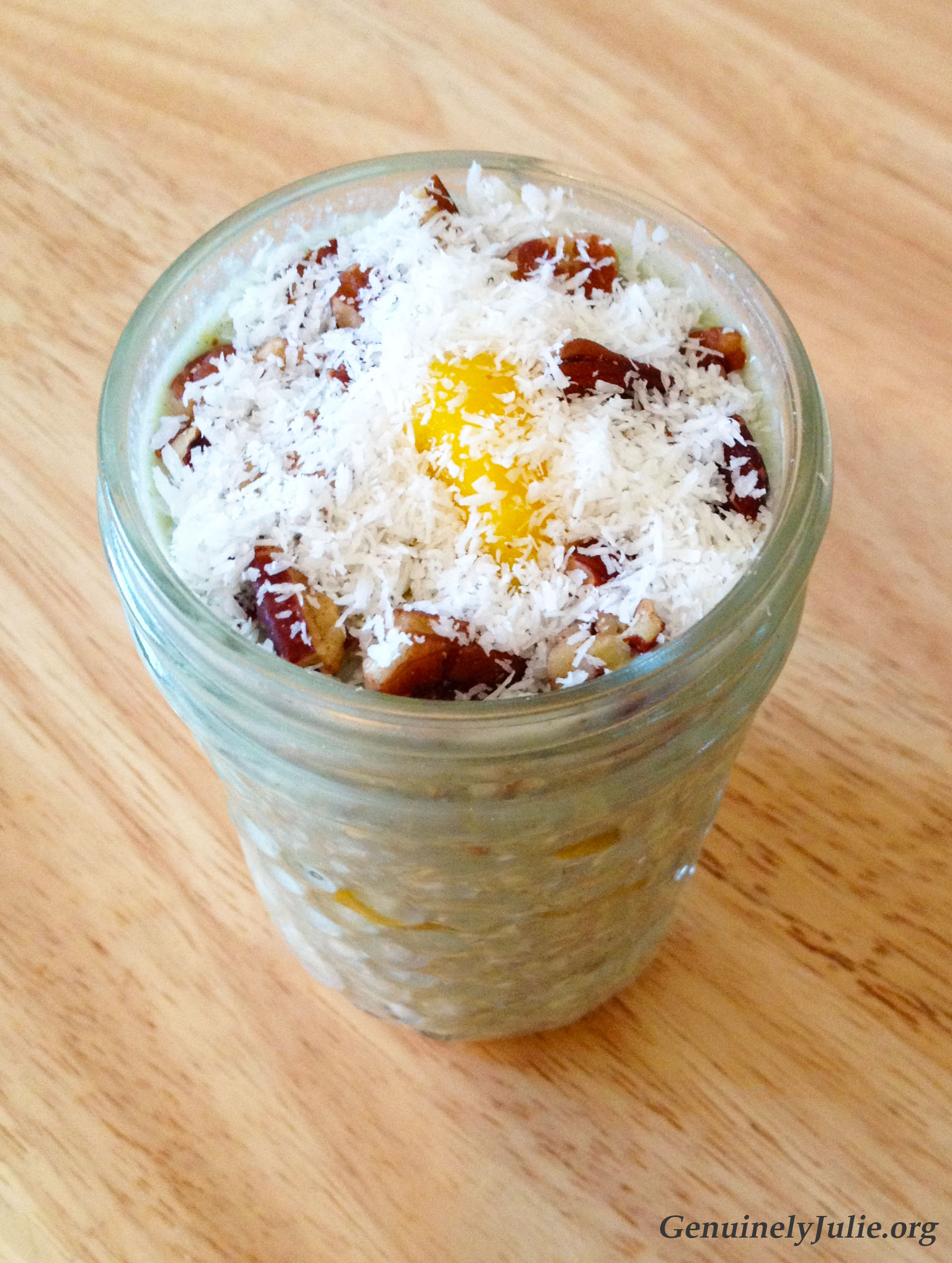 Mango chai overnight oats 2
